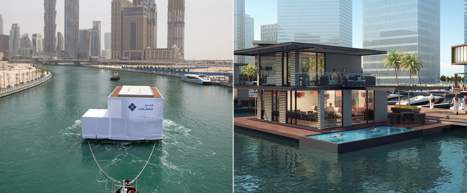 Gettone Group, cooperation with our customer, Admares OY has delivered the first batch of water homes to Dubai Canal – to berth at Marasi Business Bay .